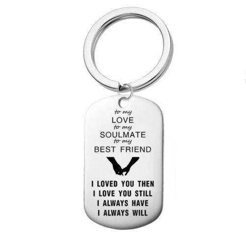 In Gift Box Engraved KeyringI Love You Boyfriend Soulmate Gift Present Birthday
