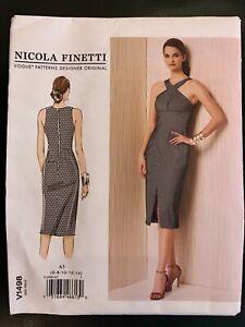 6-14 DESIGNER NICOLA FINETTI UNCUT NEW VOGUE SEW PATTERN V1490 MISSES DRESS Sz