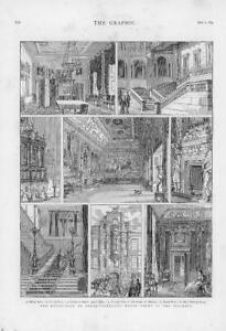 1874-Antique-Print-LONDON-NORTHUMBERLAND-HOUSE-INTERIOR-DEMOLISHED-138