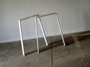 Pieds de table jambes acier tableau des cadre chemins bureau blanc