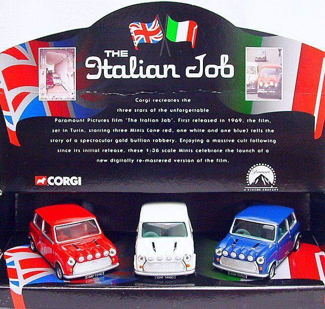 Corgi spielzeug 13450 morris mini cooper italian job rallye - auto 05506 mib '03 3 wurde selten