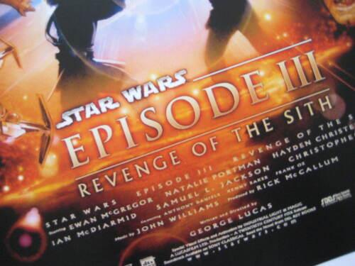 "- B2G1F Star Wars Phantom Menace Movie Collector/'s Poster Print 11/"" x 17/"" T9"