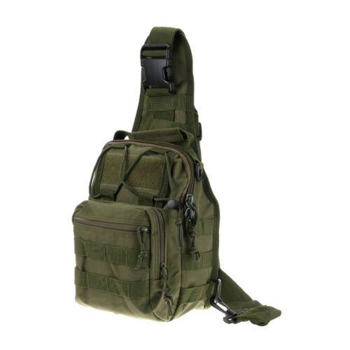 Men Military Tactical Molle Messenger Shoulder Sling Chest Utility Bag Backpack