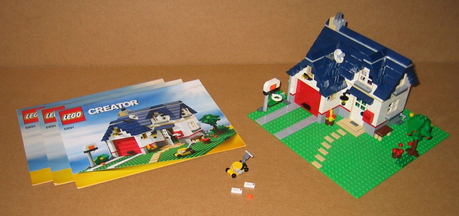 5891 LEGO 3-in-1 Creator Apple Tree House 100% Complete w Manuals EX COND 2010