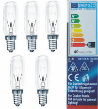 5x Müller-Licht Ersatz Birne Dunstabzugshaube 40W E14 klar Lampe Dunstabzugbirne