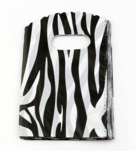 Jewelry Pouches.100pcs  Zebra pattern Plastic Bags Jewelry Gift Bag 9x15cm