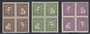 Denmark Sc 167a-175a MLH. 1924 300th Anniv of Danish Postal Service, Se-Tenant