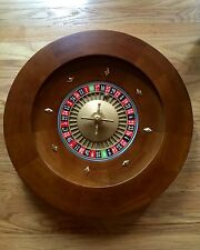 "BRAND NEW 20"" Solid WOOD Professional Casino Roulette Wheel - 28 lbs!"
