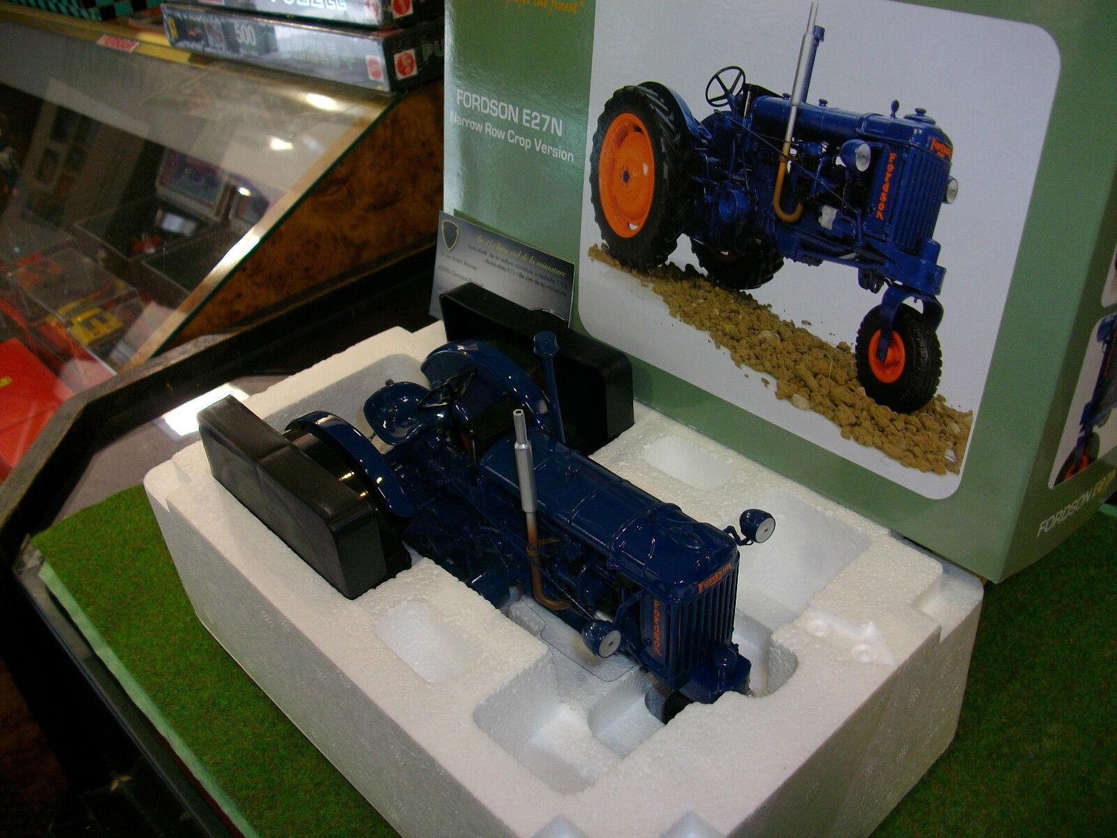 TRACTEUR AGRICOLE FORD E27 N bleu echell 1 16 UNIVERSAL HOBBIES UH2886 miniature
