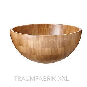 ikea holzsch ssel sch ssel aus bambus holz 20cm serviersch ssel salatsch ssel ebay. Black Bedroom Furniture Sets. Home Design Ideas