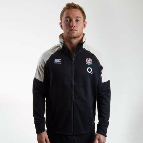 Canterbury Mens England 2018//19 Players Hybrid Full Zip Hooded Rugby Sweat Grey