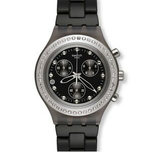 46415663fef A imagem está carregando Swatch -ironia-Completo-Sangue-Stoneheart-Silver-Chrono-data-