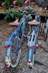 Pair of 1952 Original Vintage Columbia Bikes