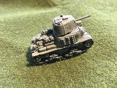 1//100th Painted WWII Russian BT-7 Model 1937 Wargaming Model 15mm