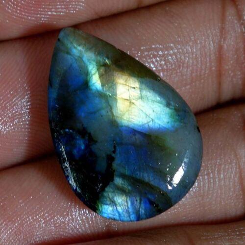 Multi Fuego Esmeralda Labradorita cabujón de piedras preciosas naturales Multi Fuego Pera