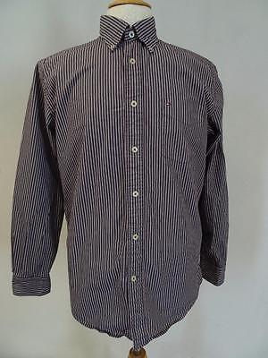 Shirts & Hemden Tommy Hilfiger Formelles Hemd Streifen Knöpfe Größe M 274 P Hitze Und Durst Lindern.