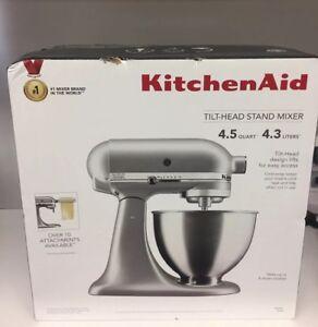 Details about KitchenAid 4.5 Quart Tilt-Head Stand Mixer, Silver (KSM88SL)