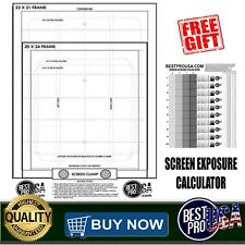 Screen Printing Pre Registration Template Film Positives Transparency Free Gift