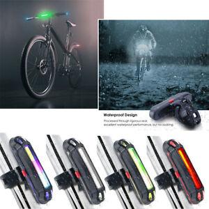 6 режимов супер яркий велосипед хвост свет светодиодный Usb велосипед задние безопасности предупреждение лампа