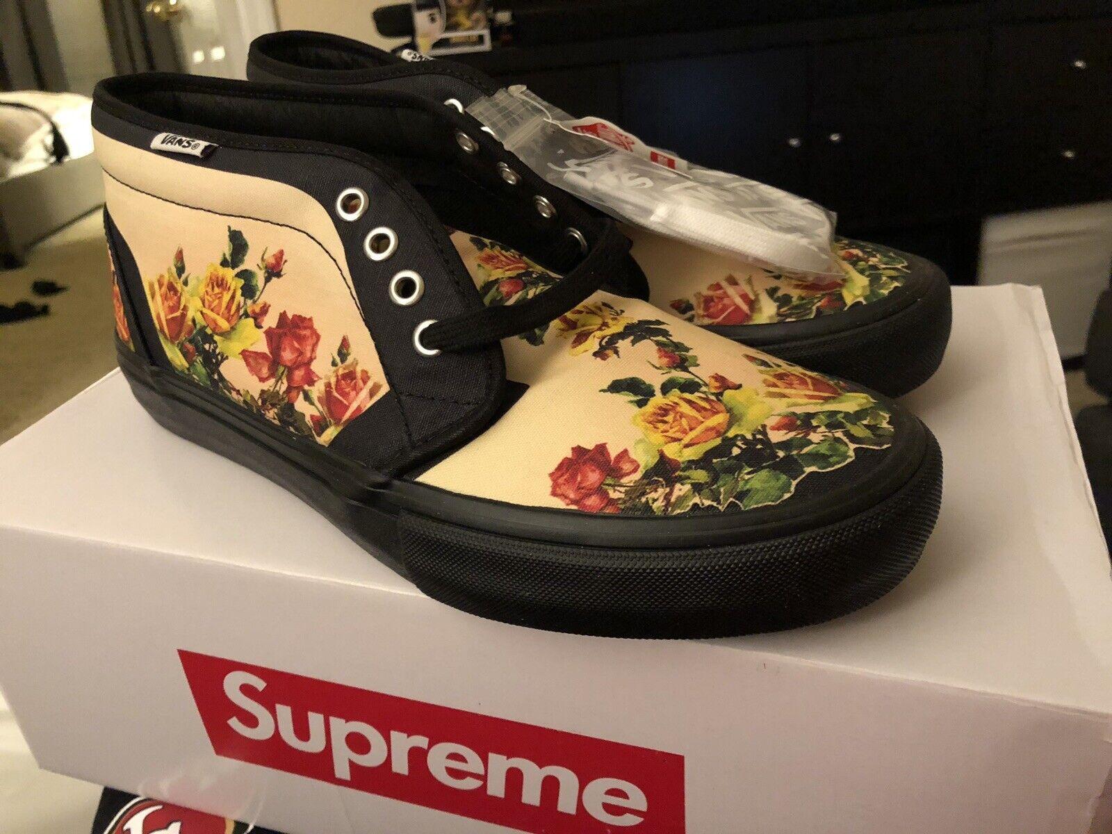 Supreme ® Vans ® Jean Paul Gaultier ® Floral Print Chukka Pro