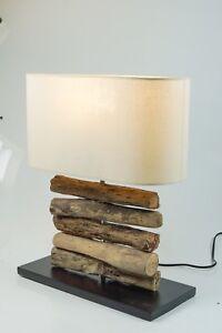 Tisch Lampe Tisch Dekoleuchte Treibholz 50 X 22 Cm Naturmaterial