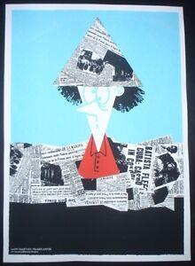 LOQUITO-Crazy-Journalist-Cuban-Screenprint-Comics-Poster-Salutes-U-S-Cuba-Ties