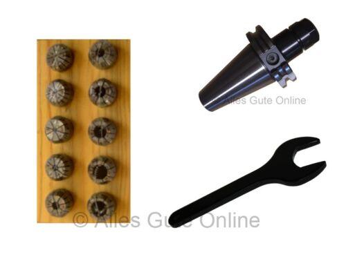 Schlüssel A Spannzangenfutter DIN69871 SK40 ER16 gewuchtet+ER16 Satz 10 Stk.HL