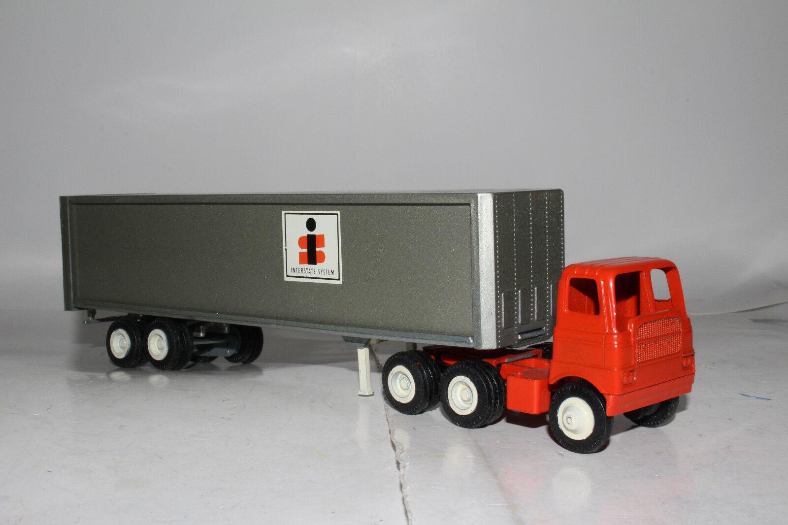 1970's Winross Die Cast Metal Semi Truck, Interstate Systems, Nice