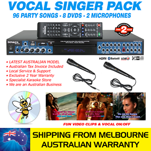 VOCAL-SINGER-MP4000-KARAOKE-MACHINE-96-PARTY-SONG-PACK-2-MICS-BLUETOOTH