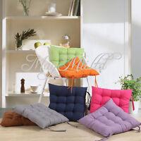 40 X 40cm Handmade Square Soft Dining Chair Seat Pad Filled Ties Cushion Decor O
