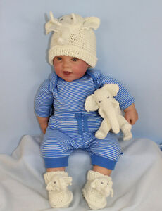 Image is loading KNITTING-INSTRUCTIONS-BABY-ELEPHANT-TOY-BEANIE-HAT-amp- 249c53553fd