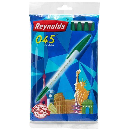 20 Reynolds 045 BALL PEN GREENFine CarbureLaser smooth writing Laser Tip