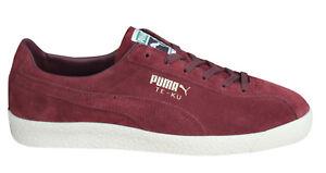Dettagli su Puma TE KU Sneaker Uomo Lacci Scarpe in Pelle Bordeaux 364990 03 U60 mostra il titolo originale