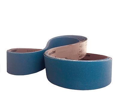 Sanding Belts 2-1//2 X 60 Zirconia Industrial Abrasive 4 Pack 80 Grit