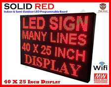 40 X 25 Inch Led Red Color Wifi Indoor Semi Outdoor Programmable Scrolling Sign