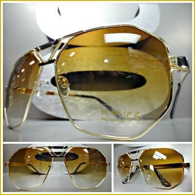 Homme Classique Rétro Vintage Aviateur Mach style Lunettes de soleil black /& gold frame