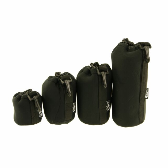 Neoprene Soft Protector DSLR Camera Lens Pouch Bag Case Set Size: S+M+L+XL DC5S