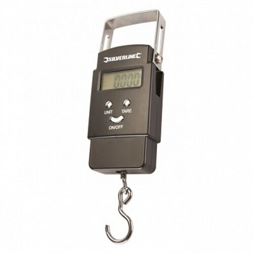 NEW SILVERLINE ELECTRONIC POCKET BALANCE - METRIC AND IMPERIAL 40KG CAPACITY