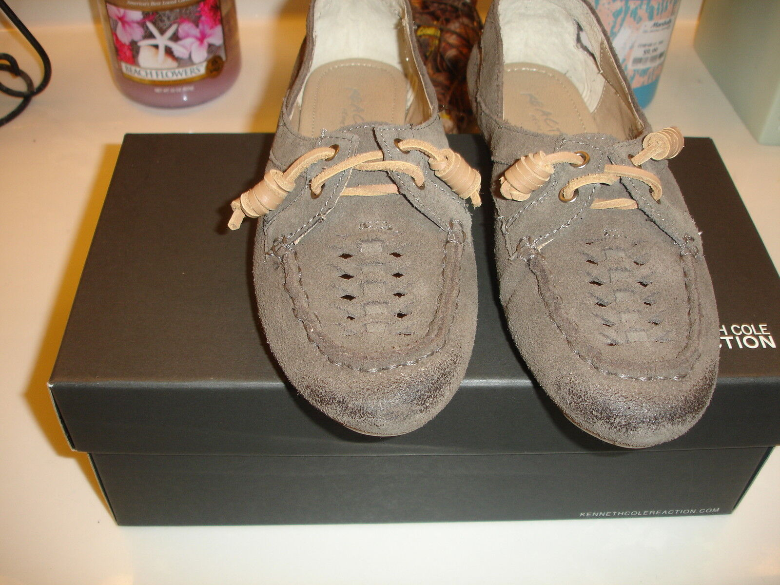 Kenneth Cole Reaction Ballways Woven Taupe Vamp Mocassin oxford schuhe Taupe Woven  99 6 e6d551