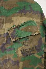 Vintage USMC Woodland Camo ERDL Field Shirt / Uniform Hot Wx Long Sleeve (A1229)
