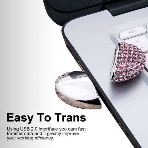 Kootion Crystal Heart Shape Design 32GB 1//2//3//5 Pack USB2.0 Flash Drive For Gift