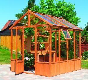 Holz Gewachshaus 213 X 248 Cm Uv Stabil Plexiglas Ebay