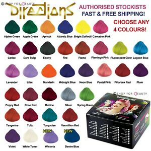 Box-of-4-Pots-La-Riche-Directions-Semi-Permanent-Hair-Dye-All-Colours