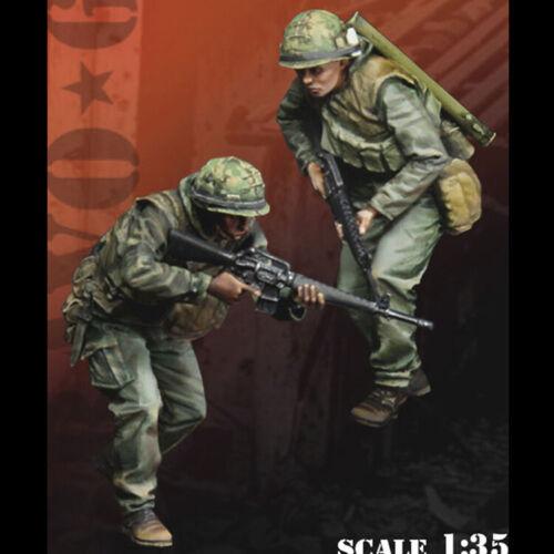 2 Chiffres 1:35 United States Marine Corps WWII Résine Modèle soldat GK