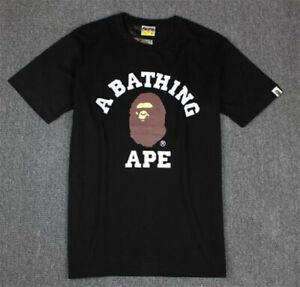 2019 New BAPE A Bathing Ape Monkey Head Round Collar Short Sleeve Cotton T-shirt
