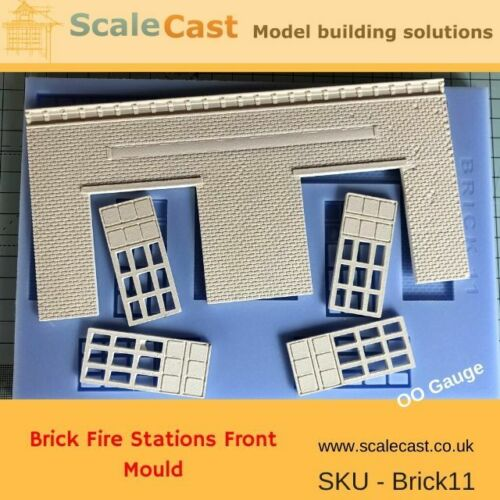BRICK 11 Building Front Model Railway FIRE STATION Mould