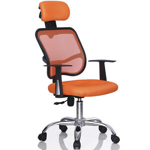 Image Is Loading Ergonomic High Back Executive Computer Desk Task Mesh