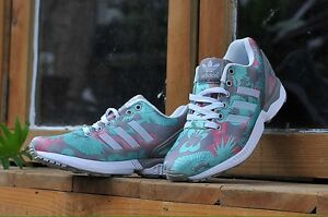 competitive price d9eec 167d6 Image is loading ADIDAS-ZX-FLUX-WOMENS-RUNNING-SHOES-CLEAR-ONIX-