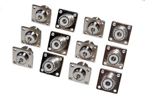 12Pcs-SO-239-Chassis-Mount-Female-UHF-Connector-for-Ham-Radio-Repair-J-Pole-12X