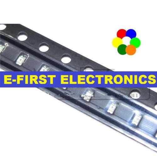 200pcs 0603 high bright SMD LED white yellow blue green orange red light